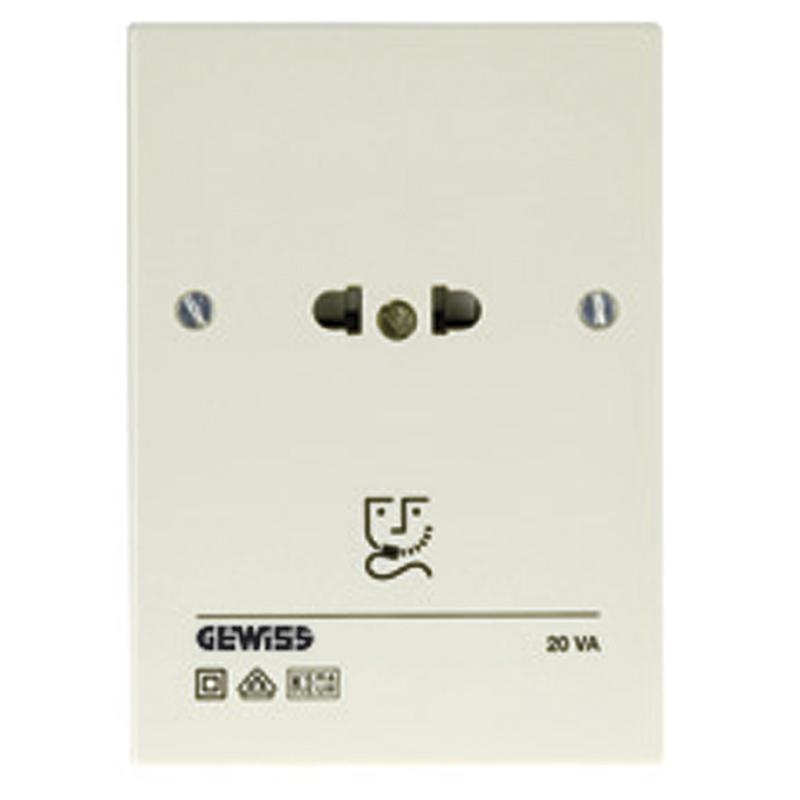 gw27865 shaver socket 230v ral 1013 gewiss 27. Black Bedroom Furniture Sets. Home Design Ideas